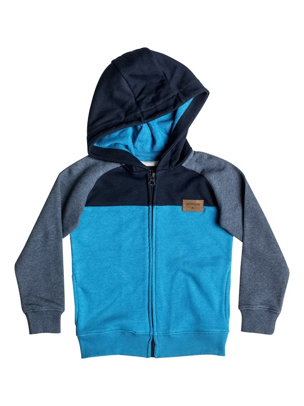 0 Whatever Mum - Sweat à capuche zippé Bleu EQKFT03184 Quiksilver