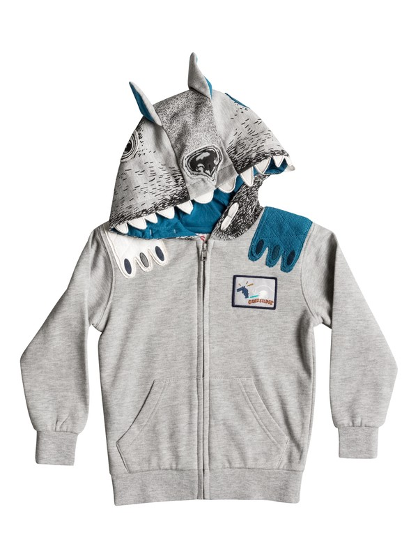 0 Ghetto Dog - Sweat à capuche zippé Gris EQKFT03185 Quiksilver