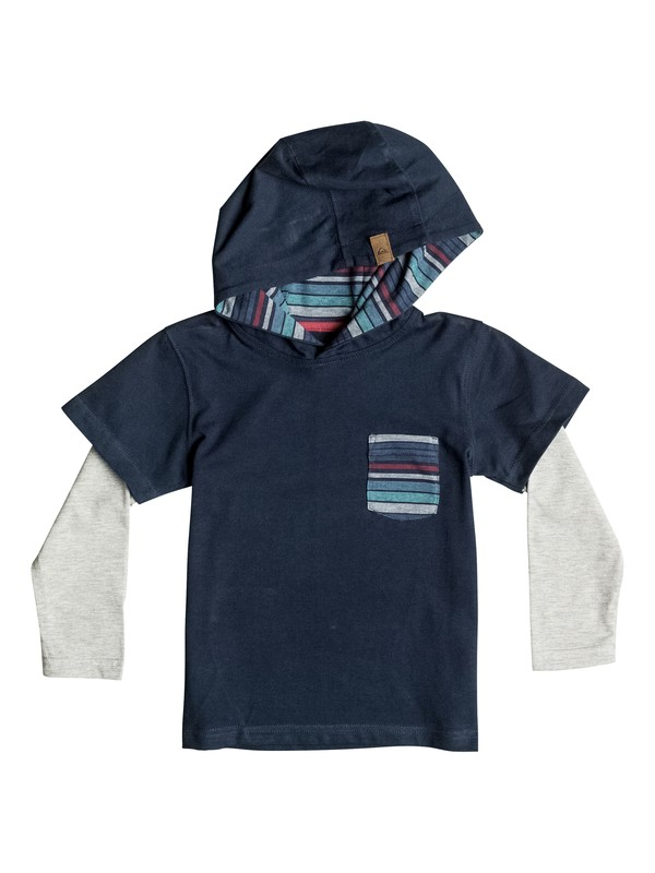 0 Boy's 2-7 Sun Shines Hooded Long Sleeve Tee  EQKKT03060 Quiksilver