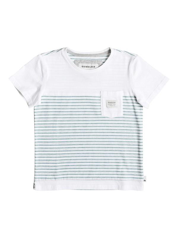 0 Full Tide - Tee-Shirt à poche Blanc EQKKT03090 Quiksilver