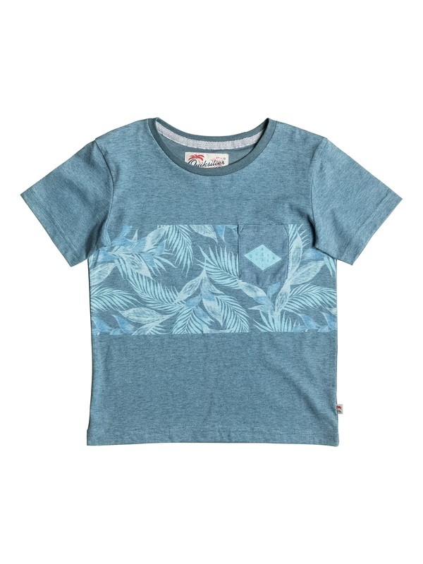 0 Faded Time - Tee-Shirt à poche Bleu EQKKT03094 Quiksilver