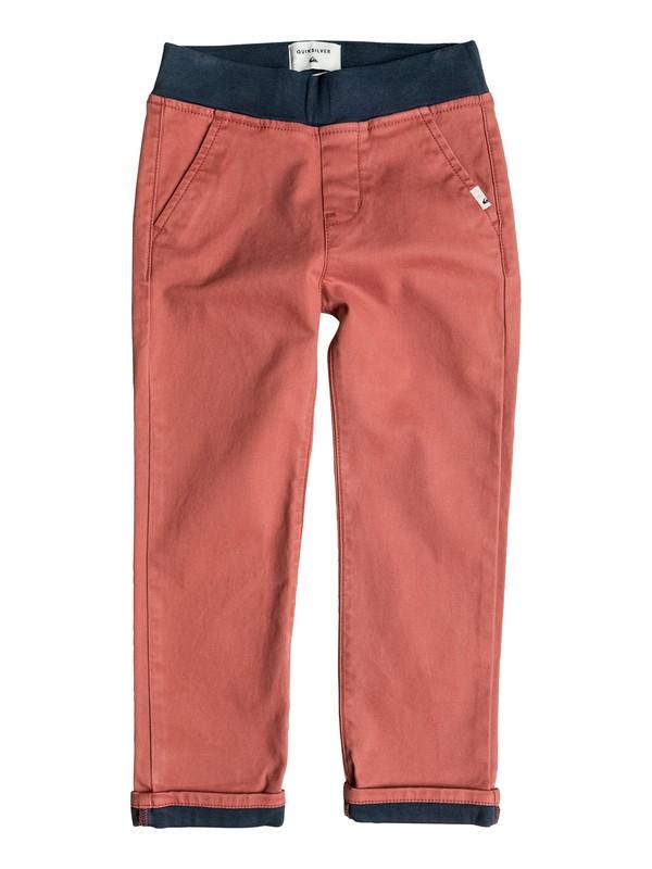 0 Krandy Contrast - Pantalon chino Rouge EQKNP03031 Quiksilver