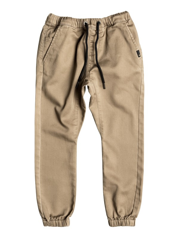 0 Fonic - Pantalon de jogging en sergé Beige EQKNP03037 Quiksilver