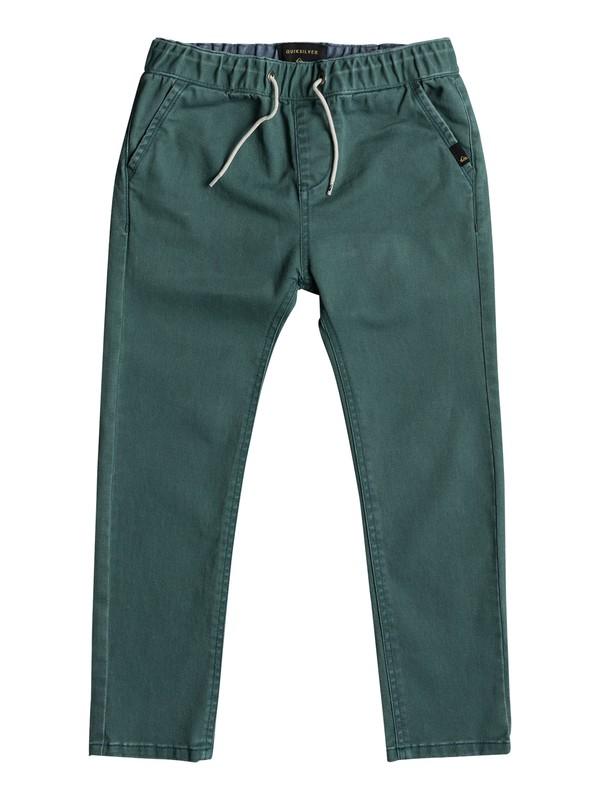 0 Krandy Elasticated - Pantalon coupe slim Vert EQKNP03043 Quiksilver