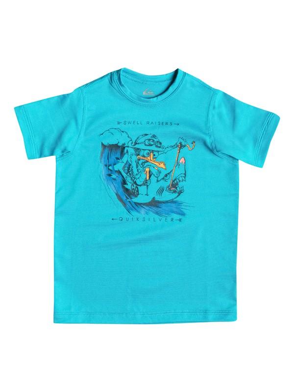 0 Seagull Raiser - Surf tee manches courtes Bleu EQKWR03003 Quiksilver