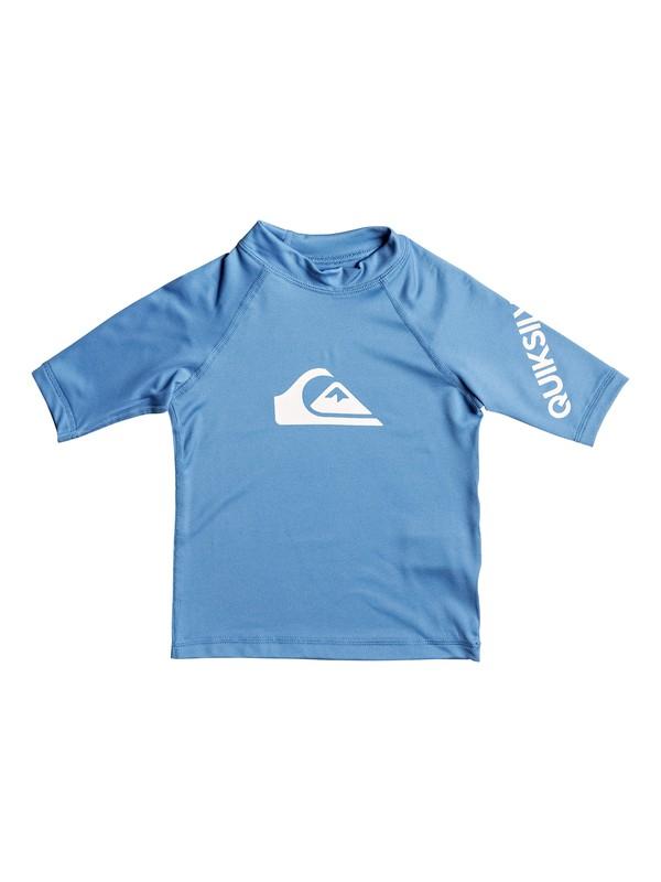0 Boys 2 - 7 All Time Short Sleeve UPF 50 Rashguard Blue EQKWR03019 Quiksilver
