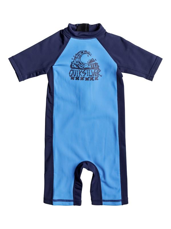 0 Thermo Spring - Lycra une pièce manches courtesUPF50 Bleu EQKWR03022 Quiksilver