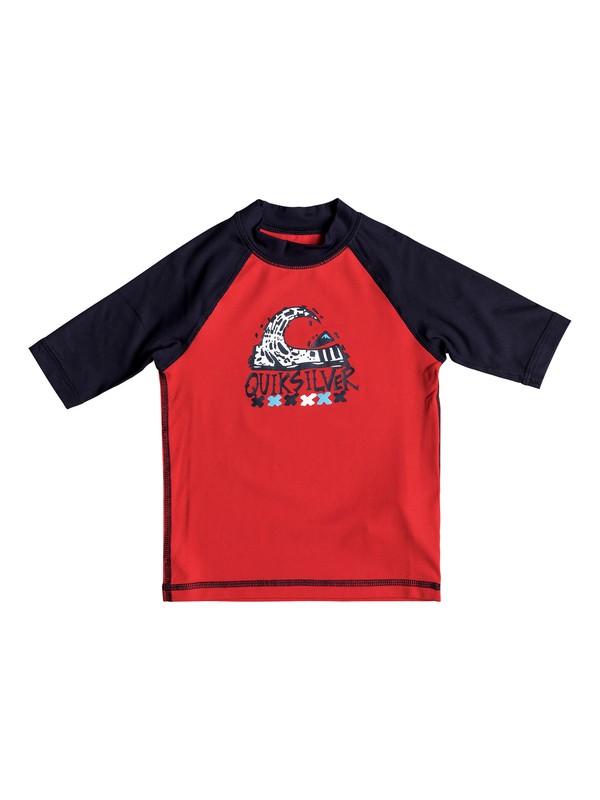 0 Boys 2 - 7 Bubble Dream Short Sleeve UPF 50 Rashguard Red EQKWR03024 Quiksilver