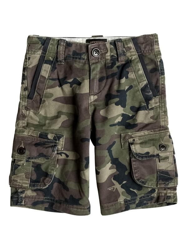 0 Boy's 2-7 Everyday Deluxe Cargo Shorts Green EQKWS03062 Quiksilver