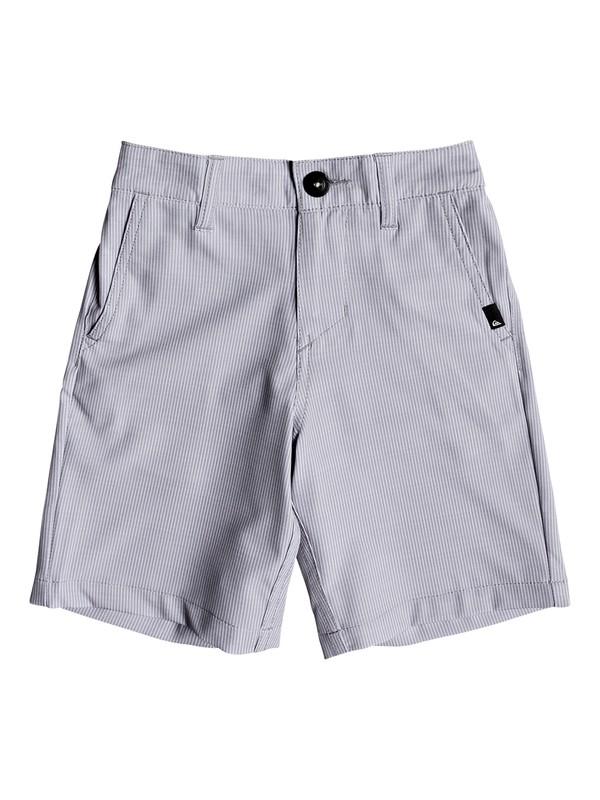 "0 Boys 2 - 7 Union Pinstripe 14"" Amphibian Shorts Grey EQKWS03140 Quiksilver"