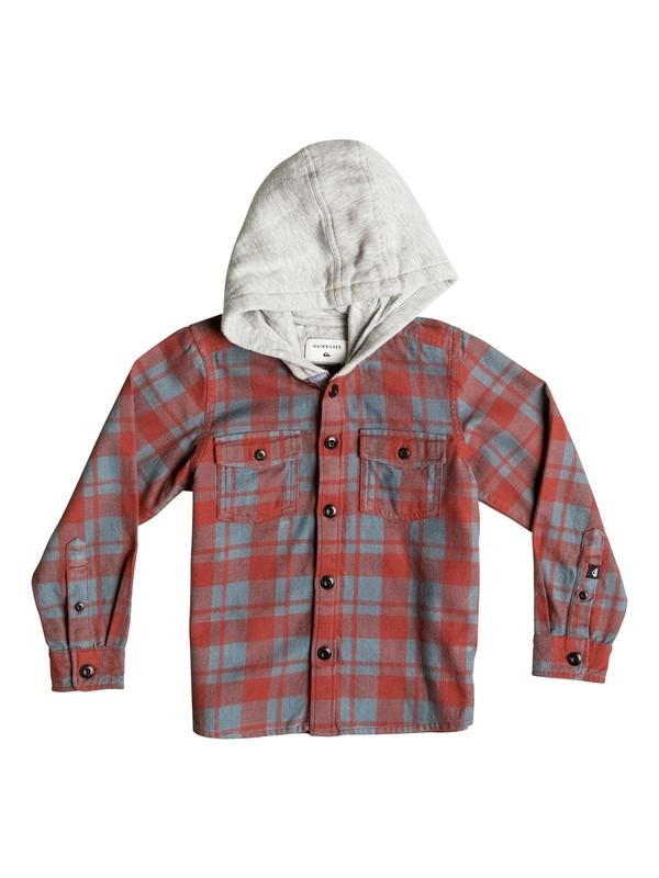 0 Snap Up Flannel - Chemise à manches longues et à capuche Rouge EQKWT03069 Quiksilver