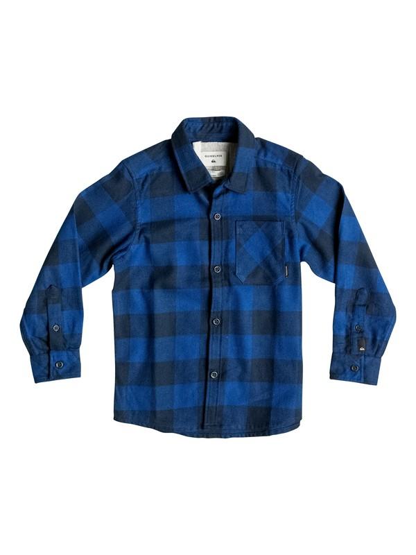 0 Motherfly Flannel - Chemise à manches longues Bleu EQKWT03071 Quiksilver