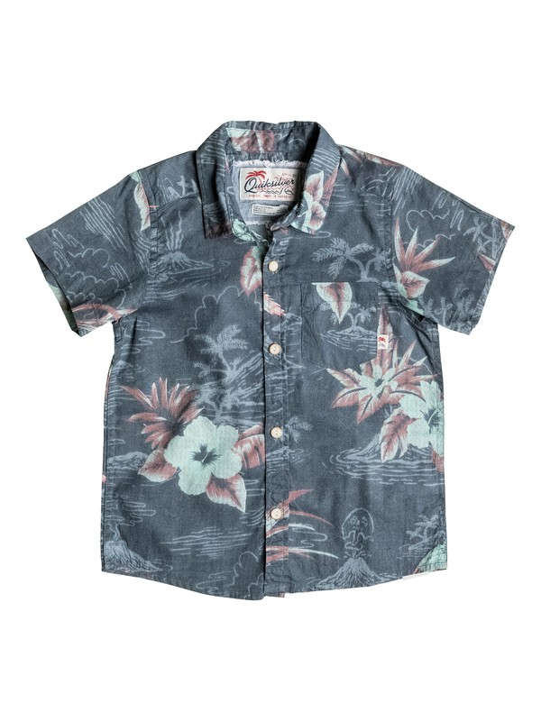 0 Boy's 2-7 Parrot Jungle Short Sleeve Shirt  EQKWT03081 Quiksilver