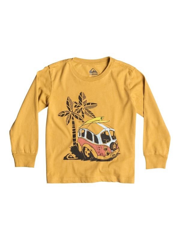 0 Organic Palm Combi - T-shirt manches longues  EQKZT03033 Quiksilver