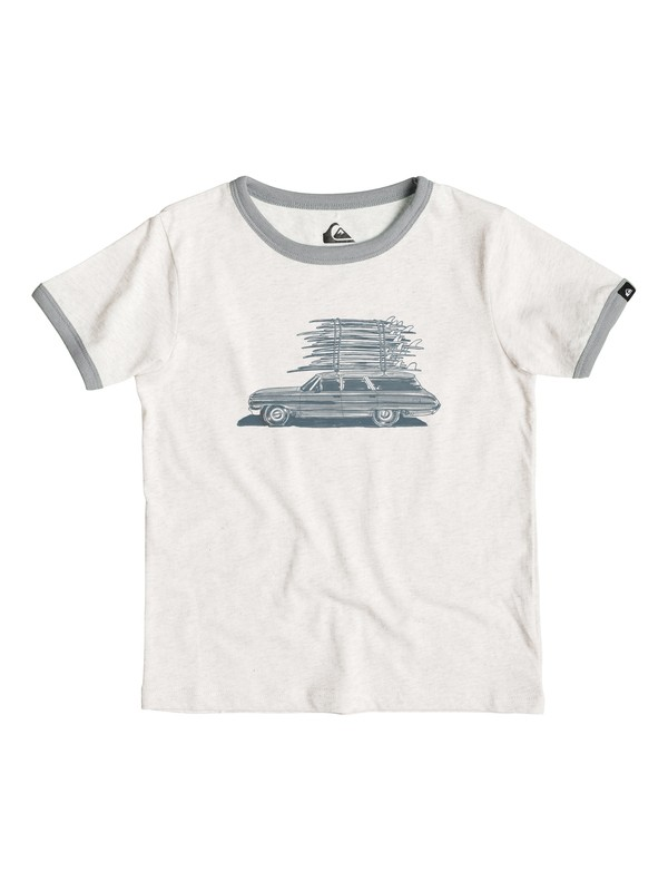 0 Heather Board Wagon - T-shirt Blanc EQKZT03057 Quiksilver