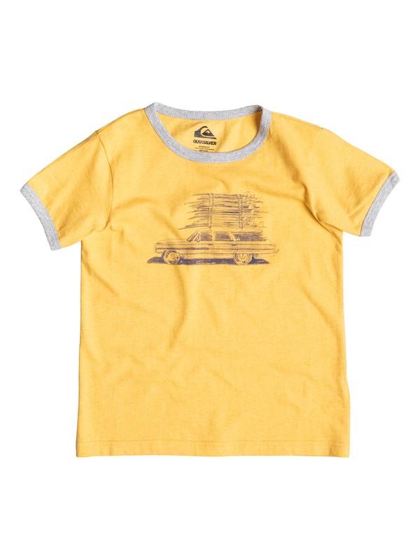 0 Heather Board Wagon - T-shirt Jaune EQKZT03057 Quiksilver