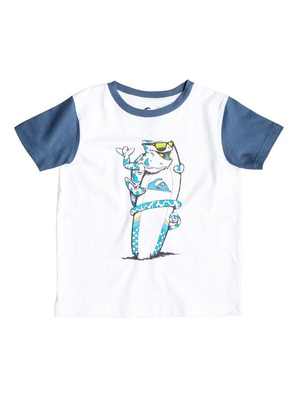 0 Colorblock Cameleo - T-shirt Blanc EQKZT03060 Quiksilver