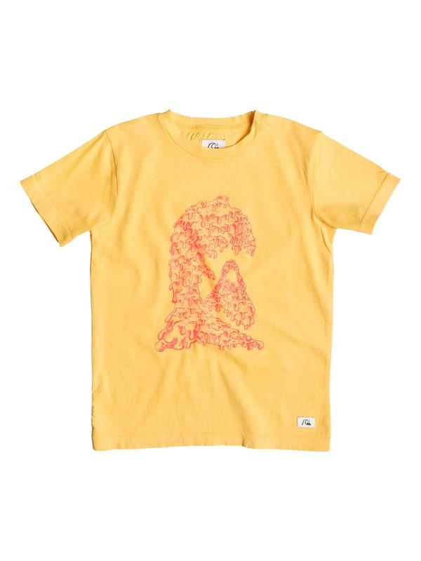 0 Garment D Candle Wave - T-shirt Jaune EQKZT03061 Quiksilver