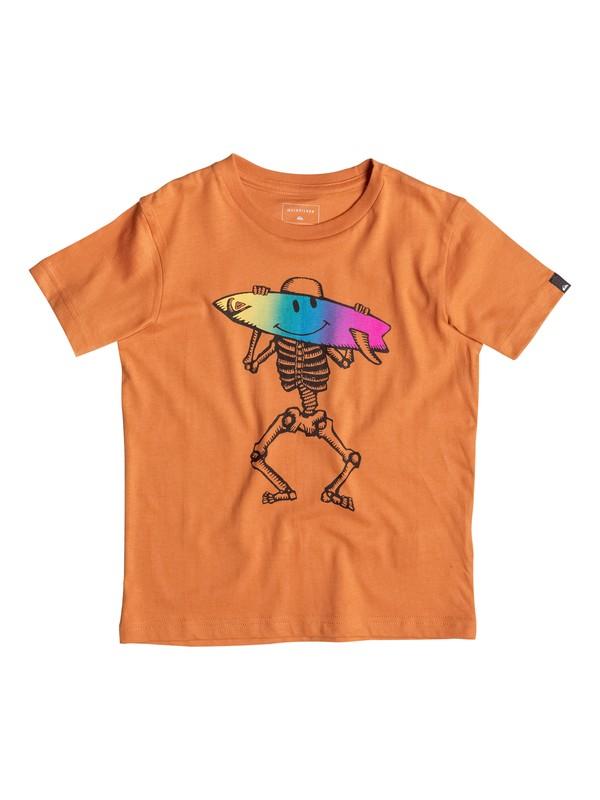 0 Classic Skellsmile - Tee-Shirt Orange EQKZT03065 Quiksilver