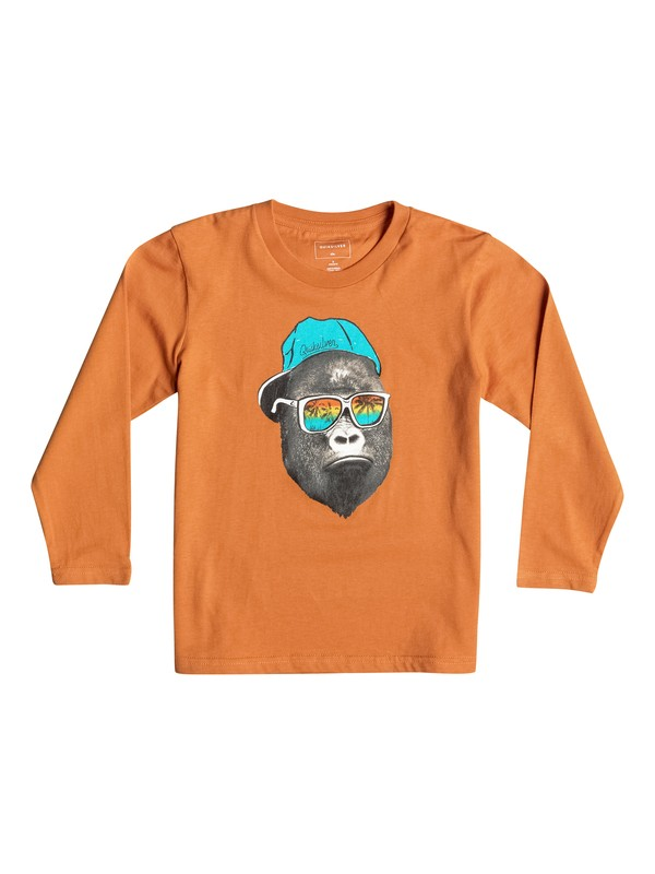 0 Classic Kong Business - Tee-Shirt à manches longues Orange EQKZT03067 Quiksilver