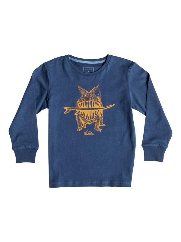 0 Carbon Brun'S Dog - Tee-Shirt à manches longues Bleu EQKZT03072 Quiksilver