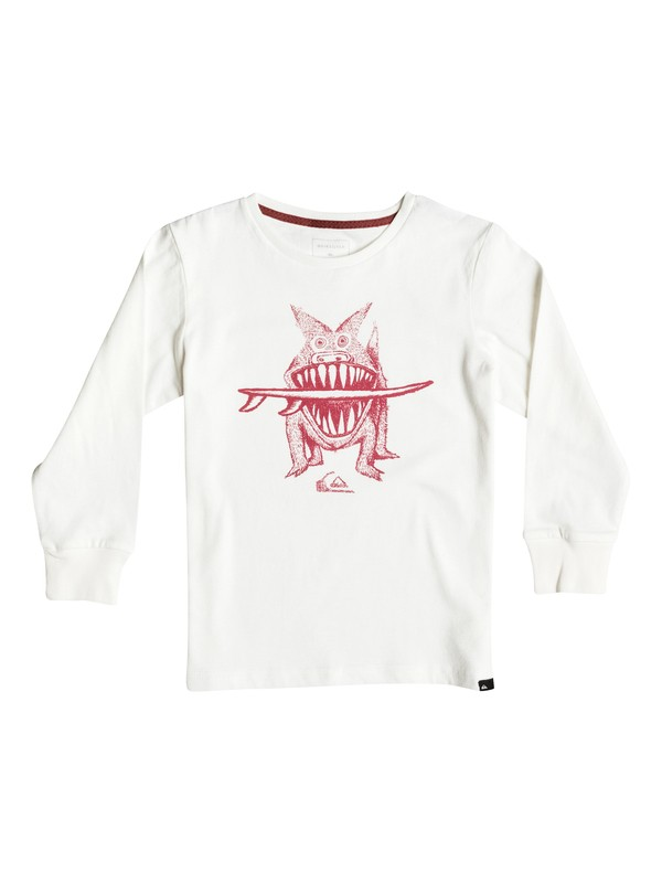 0 Carbon Brun'S Dog - Tee-Shirt à manches longues Blanc EQKZT03072 Quiksilver