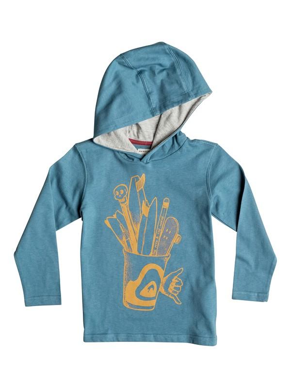 0 Pencils - Tee-Shirt à manches longues et à capuche  EQKZT03076 Quiksilver