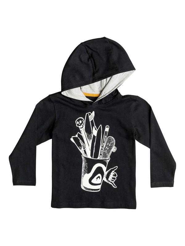 0 Pencils - Tee-Shirt à manches longues et à capuche Noir EQKZT03076 Quiksilver