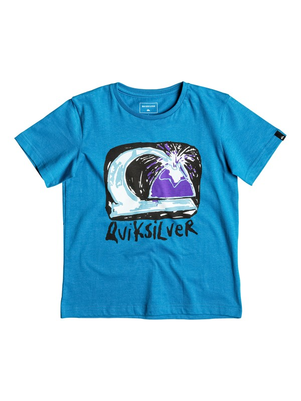 0 Classic Magic Volcano - Tee-Shirt Bleu EQKZT03080 Quiksilver