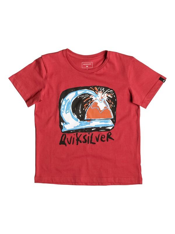 0 Classic Magic Volcano - Tee-Shirt Rouge EQKZT03080 Quiksilver