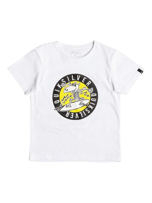0 Classic Balou - Tee-Shirt Blanc EQKZT03081 Quiksilver