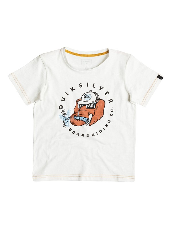 0 Slub Bobo - Tee-Shirt Blanc EQKZT03083 Quiksilver