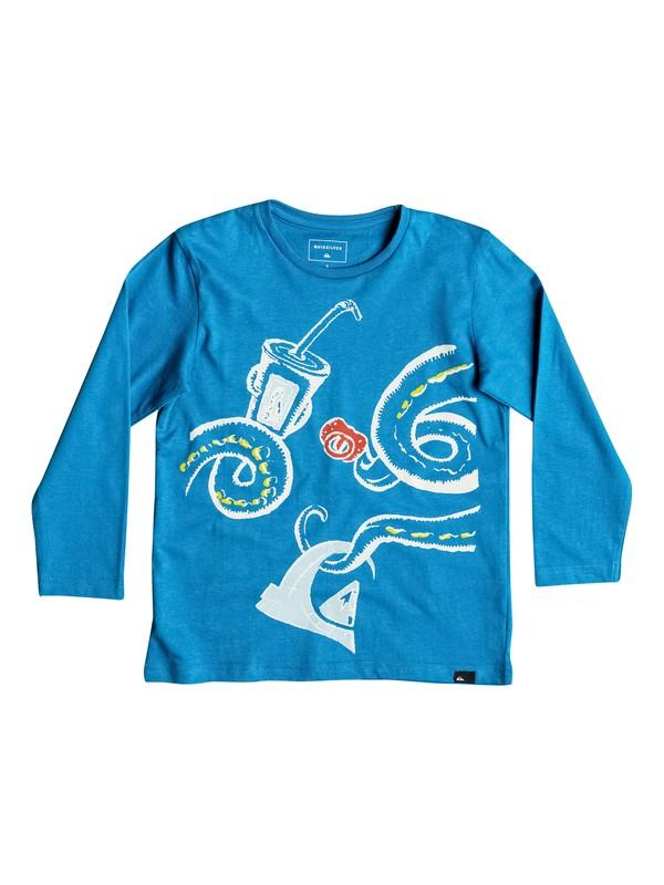 0 Classic Chipirones - Tee-Shirt à manches longues Bleu EQKZT03086 Quiksilver