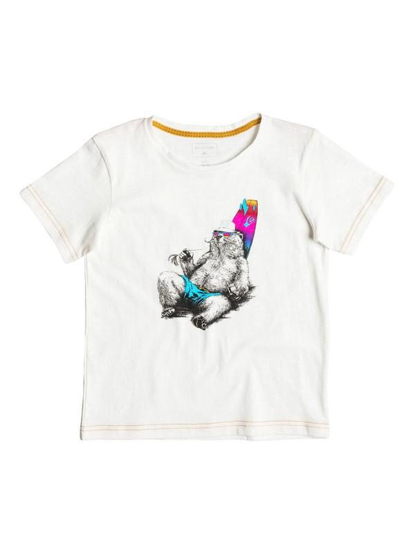 0 Slub Local Mostly - Tee-Shirt Blanc EQKZT03088 Quiksilver