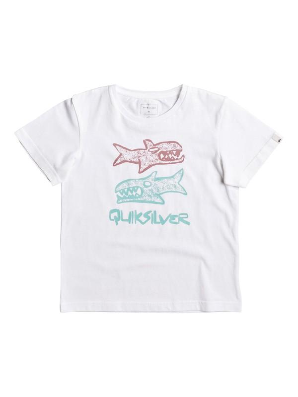 0 Classic Double Fish - Tee-Shirt Blanc EQKZT03124 Quiksilver
