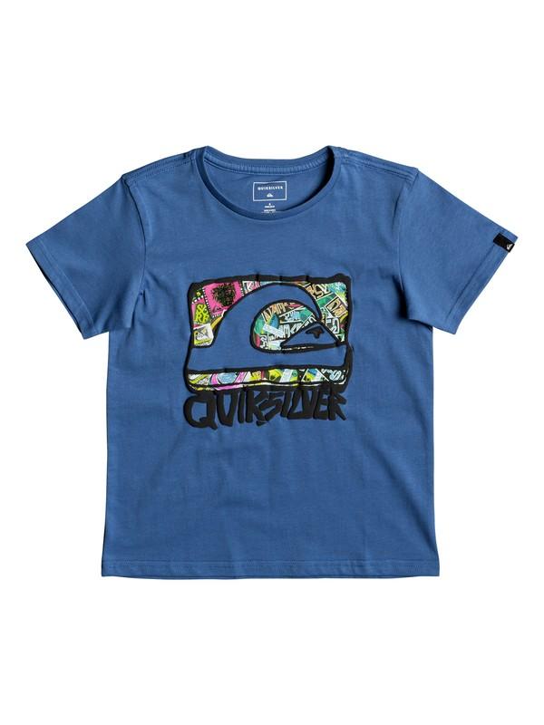 0 Classic Wemi - T Shirt col rond Bleu EQKZT03188 Quiksilver