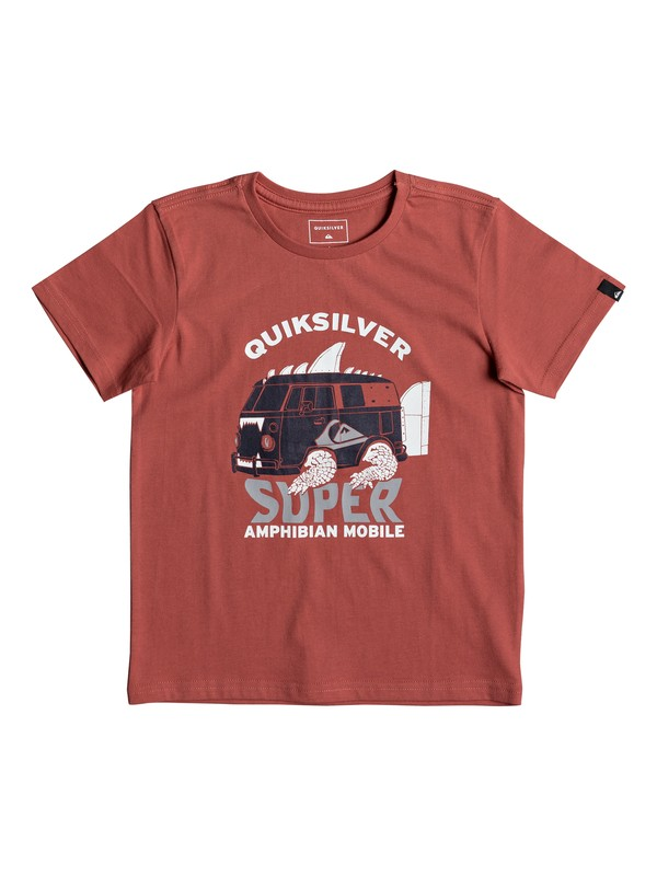 0 Classic Amphibian - T Shirt col rond Rose EQKZT03189 Quiksilver