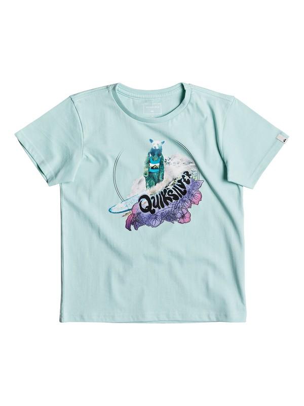 0 Classic Log Bear - T Shirt col rond Bleu EQKZT03190 Quiksilver