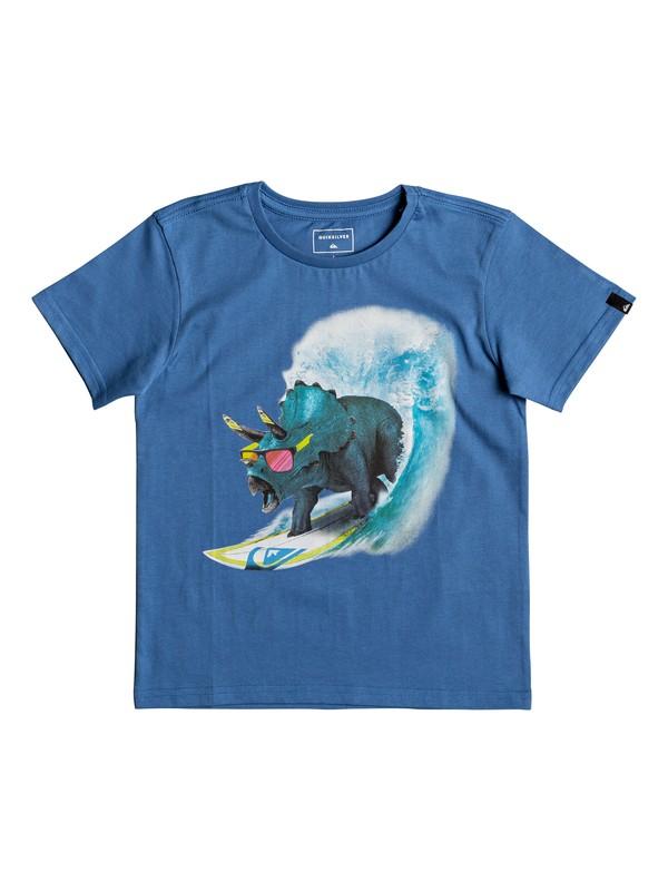 0 Classic Off - T Shirt col rond Bleu EQKZT03191 Quiksilver
