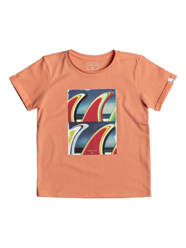 0 Classic Fin Fanatic - T Shirt col rond Orange EQKZT03192 Quiksilver