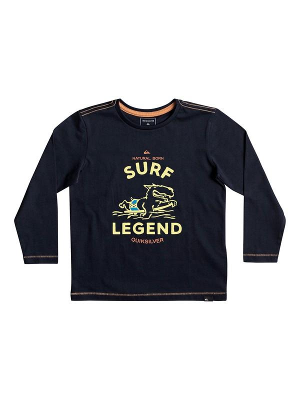 0 Classic Surf Legend - T shirt manches longues Bleu EQKZT03200 Quiksilver
