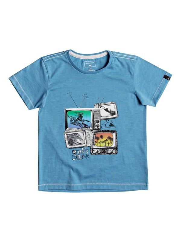 0 Heather Super TV - T Shirt col rond Bleu EQKZT03205 Quiksilver
