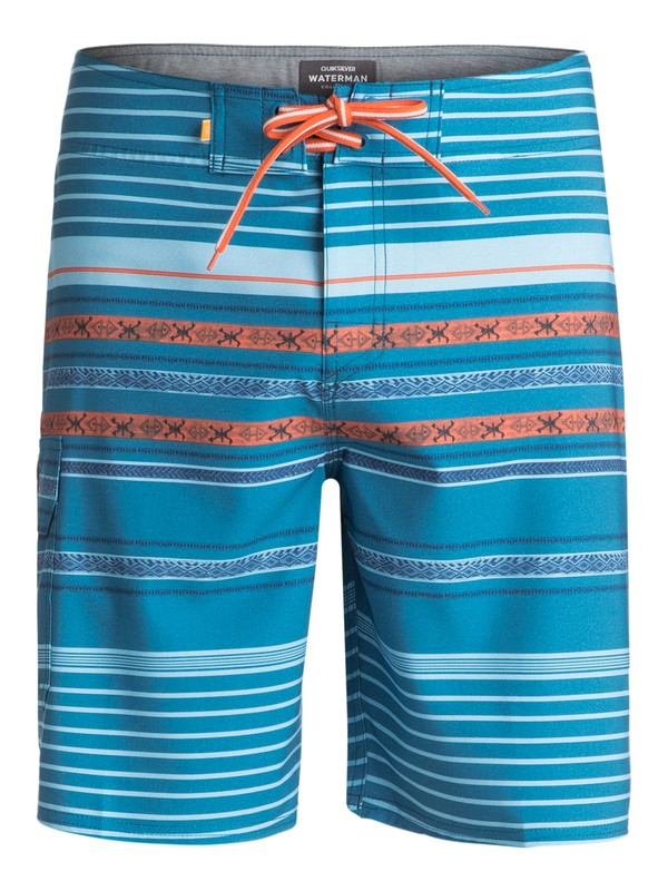 "0 Waterman Inca Stripe 20"" Boardshorts Blue EQMBS03018 Quiksilver"