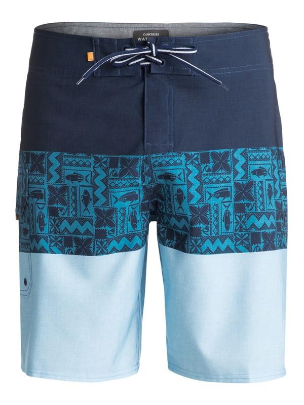 "0 Waterman Fairway Tri Block 20"" Boardshorts Blue EQMBS03019 Quiksilver"