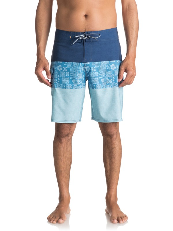 "0 Waterman Fairway Tri Block 20"" Boardshorts Blue EQMBS03023 Quiksilver"