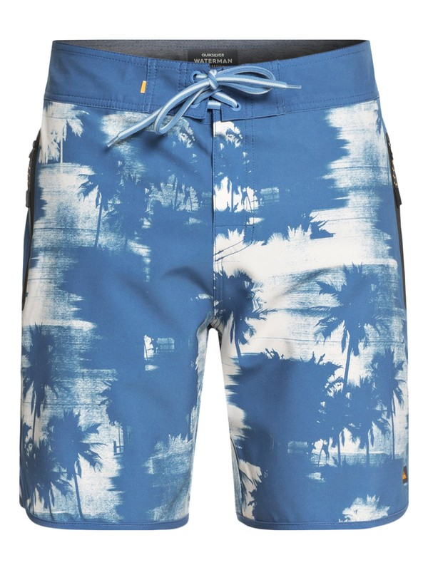 0 Waterman Paokalani Scallop Boardshorts Blue EQMBS03029 Quiksilver