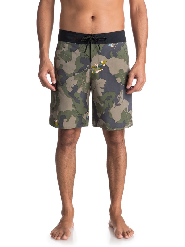 "0 Waterman Chummer 20"" Boardshorts Green EQMBS03030 Quiksilver"