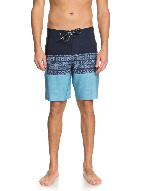 "0 Waterman Fairway Triblock 20"" Boardshorts Blue EQMBS03031 Quiksilver"
