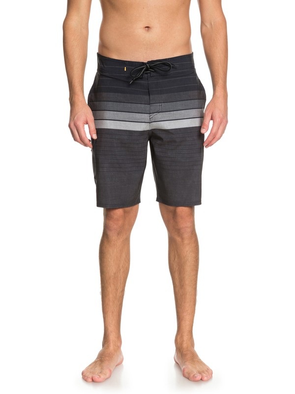 "0 Waterman Admiral Stripe 20"" Boardshorts Black EQMBS03033 Quiksilver"