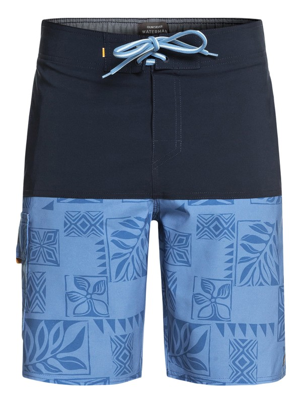 "0 Waterman Malama Bay 18"" Boardshorts Blue EQMBS03035 Quiksilver"